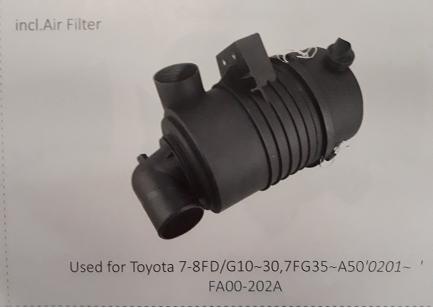 Bầu lọc gió xe nâng Toyota 7-8FD/G10~30, 7FG35~A50'0201~, Mã SP: FA00-202A