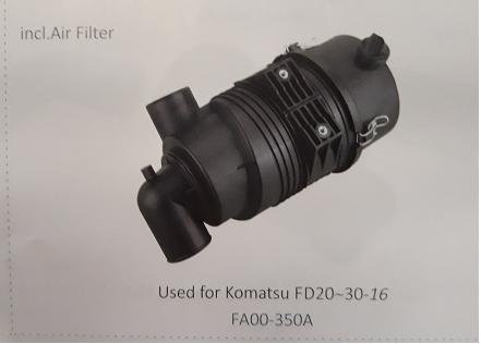 Bầu lọc gió xe nâng Komatsu FD20~30-16, Mã SP: FA00-350A
