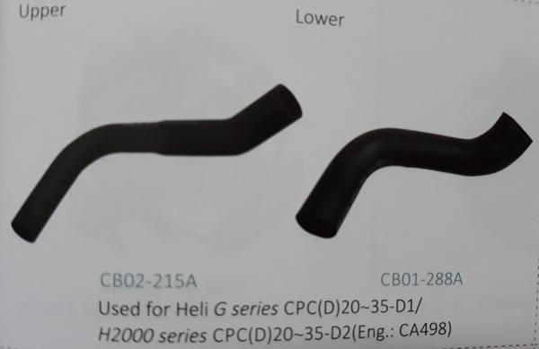 Ống nước xe nâng Heli G series CPC (D) 20~35-D1/ H2000 series CPC(D)20~35-D2(động cơ CA498)