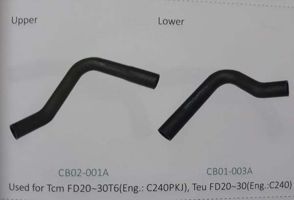 Ống nước xe nâng TCM FD20~30T6 động cơ C240PKJ, Teu FD20~30 động cơ C240
