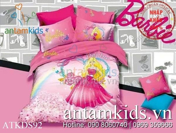 chăn ga gối Drap mền búp bê Barbie cho công chúa