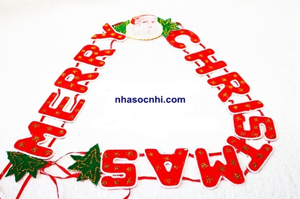 Bộ dây treo chữ Merry Christmas size to