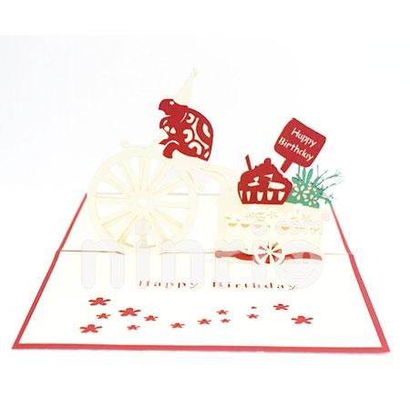 Turtle Birthday 3d Cardpopupbirthday Card
