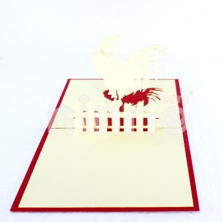 Chicken Fence 3d Cardpopupbirthday Card