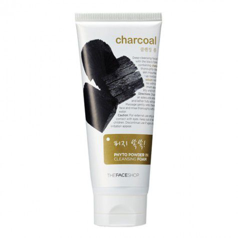 Sữa rửa mặt than Charcoal Phyto Powder In Cleansing Foam The face shop