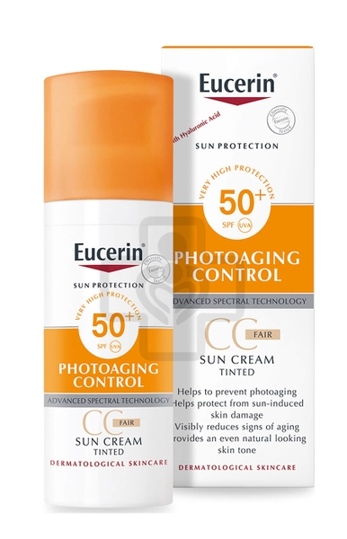 Eucerin Sun Cream Tined Photoaging SPS 50+(B/1tub)