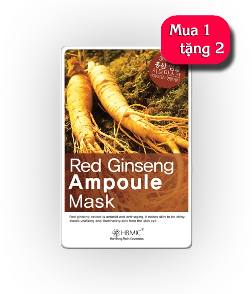 Mặt nạ HBMIC Red Ginseng Ampoule Mask