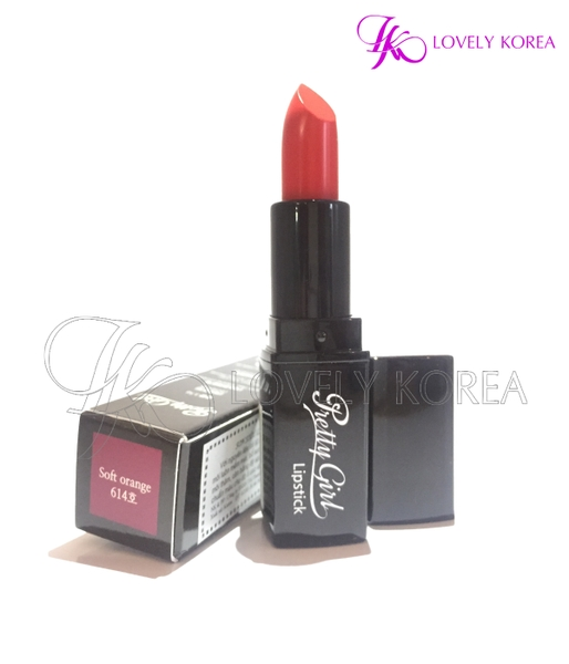 Son siêu lì Pretty Girl Lipstick (614 - Soft Orange)