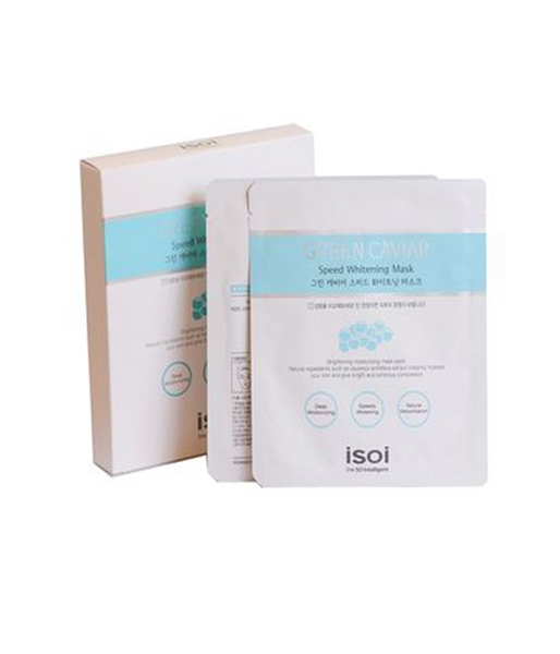 Mặt nạ ISOI Green Caviar Speed Whitening Mask (Hộp 5 miếng)