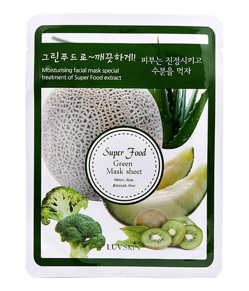 Mặt nạ Luvskin Super Food Green Mask Sheet