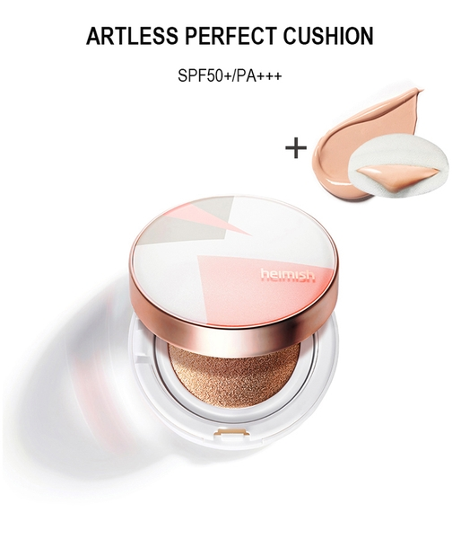 Phấn Heimish Artless Perfect Cushion No.23 Natural Beige (thêm 1 lõi phấn)