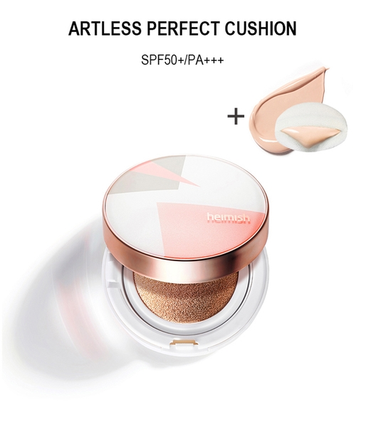 Phấn Heimish Artless Perfect Cushion No.21 Light Beige (thêm 1 lõi phấn)