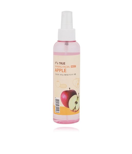 Xịt khoáng CELLIO It's True Shining Facial Mist Apple