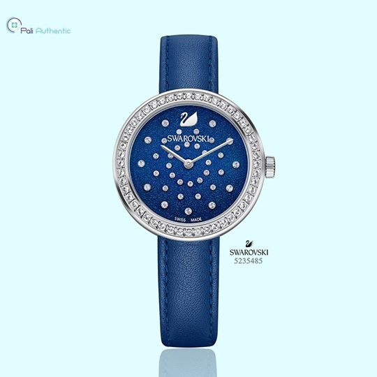 Swarovski Women's Daytime Blue Leather Strap Watch