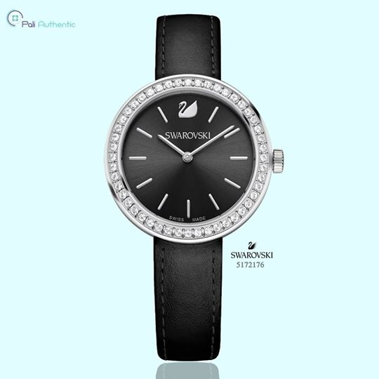 Swarovski Crystal Ladies' Daytime Black Watch