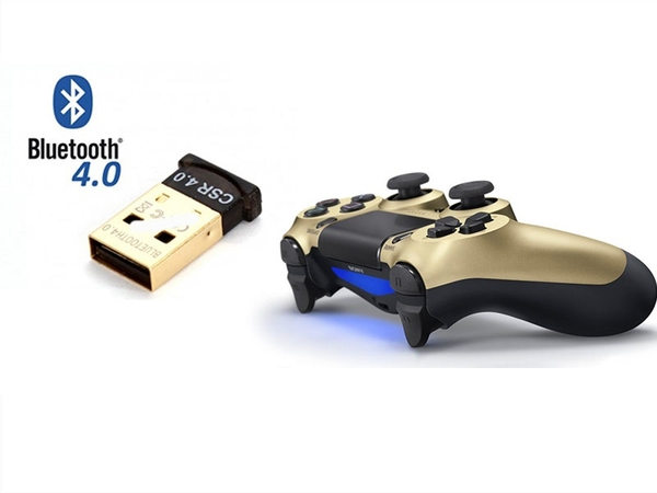 Tay DualShock 4 GOLD + Bluetooth 4.0 (PC)