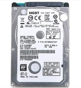 HDD HSGT 500GB/7200 Sata For Laptop