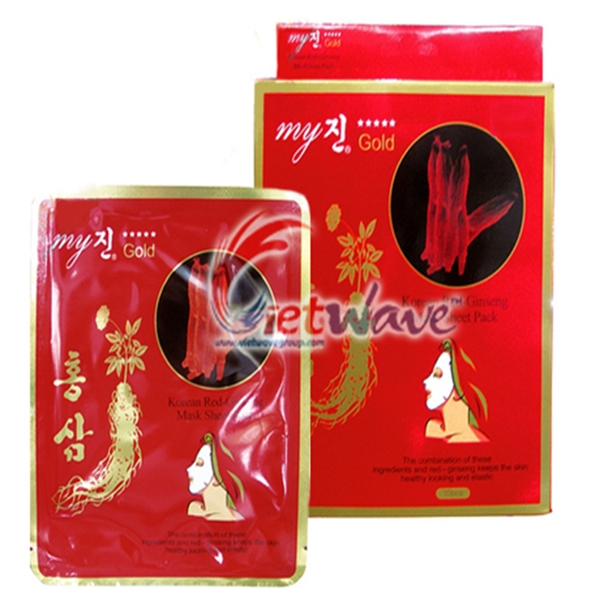 Korea Red Ginseng Mask Sheet Pack My Gold