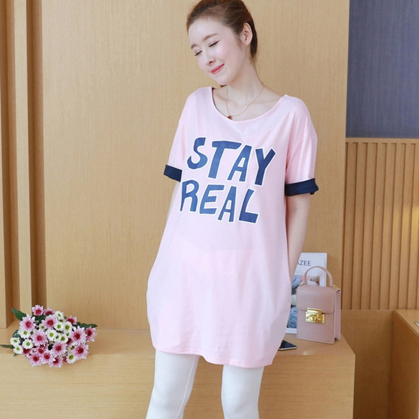 Áo bầu cotton stay real AB1150