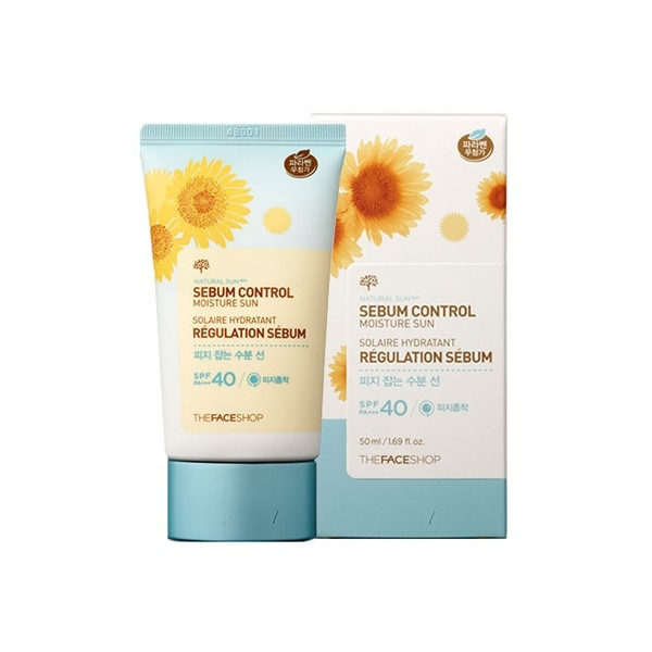 Kem Chống Nắng NATURAL SUN ECO SEBUM CONTROL MOISTURE SUN THE FACE SHOP SPF40