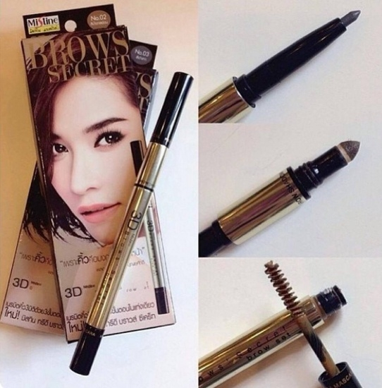 Chì Kẻ Chân Mày 3D Brown Secret Mistine 3 in 1