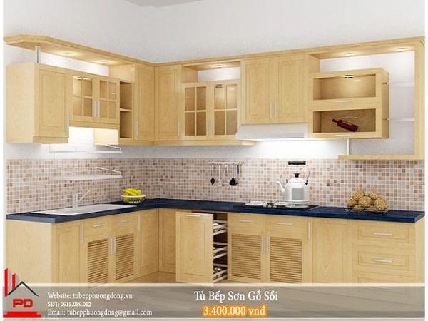 Kết quả hình ảnh cho tủ bếp gỗ