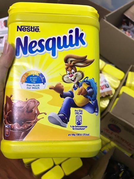 Kết quả hình ảnh cho Cacao Nesquik há»p 900g