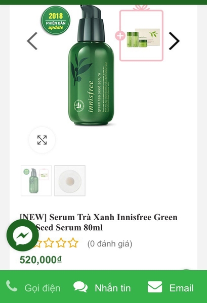 Serum Dưỡng Da Innisfree The Green Tea Seed Serum | 9 MARKET
