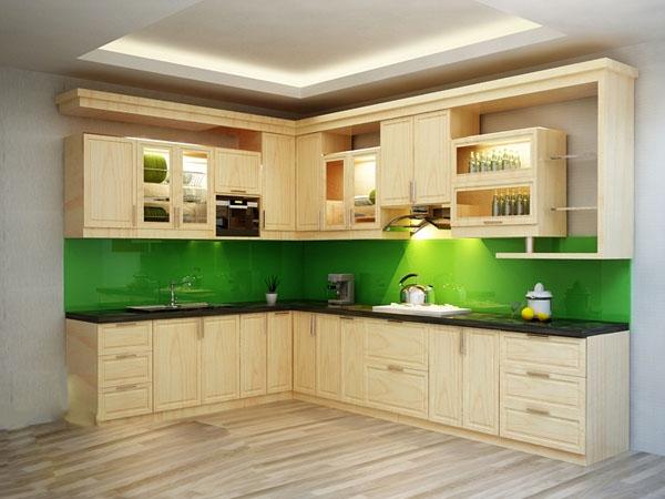 Kết quả hình ảnh cho tủ bếp gỗ sồi nga