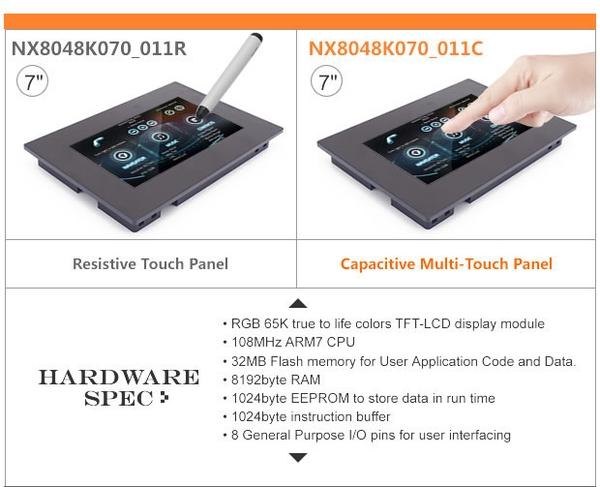 Nextion 7 inch kèm vỏ NX8048K070_011C Màn hình HMI UART Cảm ứng Điện dung