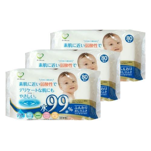 Kết quả hình ảnh cho Set 3 gói 80 tờ giấy ướt cho bé (mã mới)