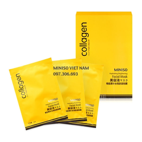 Mặt nạ Collagen Miniso Hydrating Brightening Facial Mask