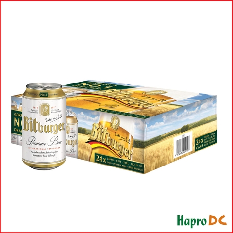 Bia lon Bitburger 330ml