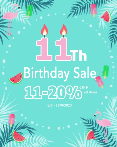 11th Birthday Sale (All items)