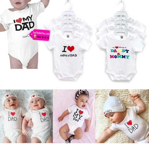Body suit I love Mom Dad Thái Lan