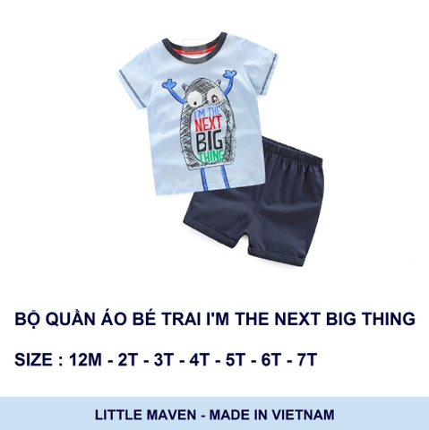Bộ quần áo Little maven I'm the next big thing