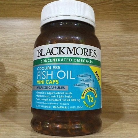 Dầu Cá Blackmores Odourless Fish Oil Mini Caps 400 Viên