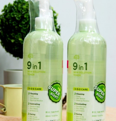Nước hoa hồng 9 in 1 Skin Solution Toner - The Face Shop