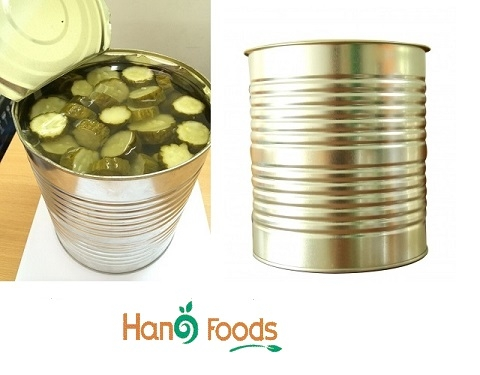 Cucumber in tin can A10
