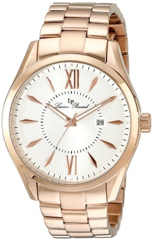 Đồng hồ Lucien Piccard  Orion Rose-Tone Stainless Steel Silver-Tone Dial