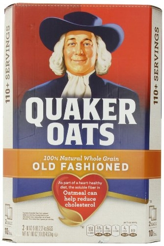Yến mạch Quaker oats, old fashioned, 2 5 lb. bags, 100+ servings 10-lb