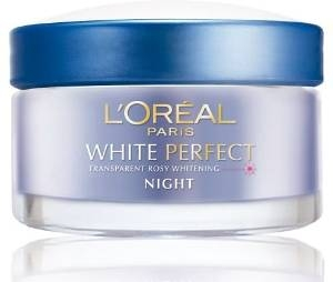 Kem dưỡng trắng da L'Oreal Paris White Perfect Transparent Rosy Whitening Night Cream