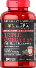 TPCN Maximum Strength Triple Omega 3-6-9 Fish Flax & Borage Oils