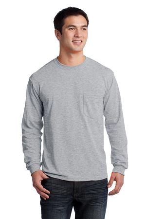 Áo phông nam Gildan® Ultra Cotton™ Pocketed Long Sleeve Tee