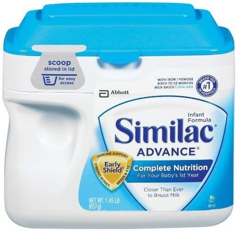 Sữa bột cho bé Similac Advance Early Shield, Formula