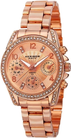 "Đồng hồ nữ Akribos XXIV AK710RG ""Lady"" Diamond and Crystal-Accented"