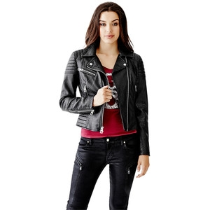 GUESS Women's Bubble Moto Jacket