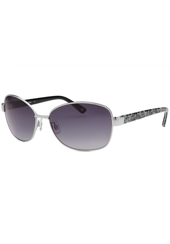 Kính mát nữ BEBE Eclectic Square Silver-Tone Sunglasses