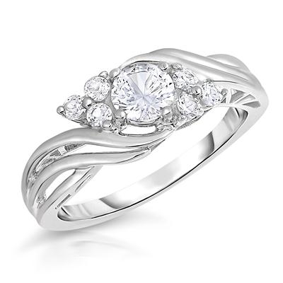 Nhẫn WHITE SAPPHIRE BRILLIANCE RING IN .925 STERLING SILVER