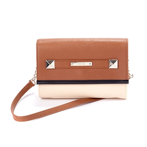 Túi xách NINE WEST TOTALLY TONAL CROSSBODY - BEIGE/BROWN